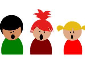 Grafik: Kinder beim Singen